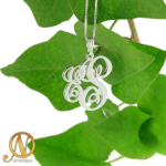 Two Letter Monogram Necklace -                          	How it looks in reality - Thumbnail - 0