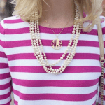 Block Letters Cut Out Monogram Necklace -                          	How it looks in reality - Thumbnail - 0