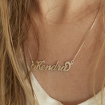 Carrie Name Necklace -                          	How it looks in reality - Thumbnail - 6