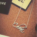 Script Name Necklace -                          	How it looks in reality - Thumbnail - 8