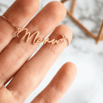 Dainty Name Necklace -                          	How it looks in reality - Thumbnail - 2