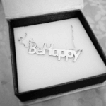 Bold Name Necklace -                          	How it looks in reality - Thumbnail - 1