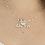 Two Names Necklace -                          	How it looks in reality - Thumbnail - 1