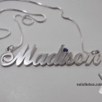 Swarovski Classic Name Necklace -                          How it looks in reality - Thumbnail - 0