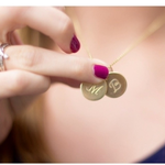 Engraved Necklace with Two Names -                          How it looks in reality - Thumbnail - 1