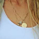 Disc Name Necklace -                          	How it looks in reality - Thumbnail - 1