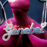 Retro Name Necklace -                          	How it looks in reality - Thumbnail - 4