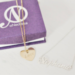 Heart Pendant with Name -                          	How it looks in reality - Thumbnail - 1