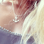 Personalised Anchor Necklace  -                          	How it looks in reality - Thumbnail - 1