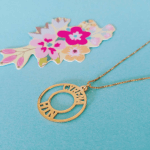 Circle Two Name Necklace -                          	How it looks in reality - Thumbnail - 6