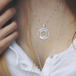 Circle Two Name Necklace -                          	How it looks in reality - Thumbnail - 9