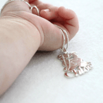 Teddy Bear Pendant with Name -                          	How it looks in reality - Thumbnail - 0