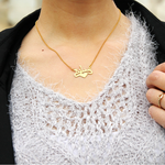Centre Heart Arabic Necklace -                          	How it looks in reality - Thumbnail - 0