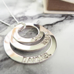 Engraved Mother Necklace -                          	How it looks in reality - Thumbnail - 0