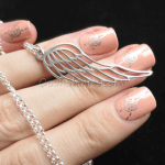 Angel Wing Necklace -                          How it looks in reality - Thumbnail - 0
