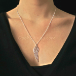 Angel Wing Necklace -                          	How it looks in reality - Thumbnail - 2