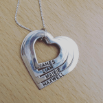 Mother's Heart Necklace -                          	How it looks in reality - Thumbnail - 1