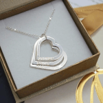 Mother's Heart Necklace -                          	How it looks in reality - Thumbnail - 3