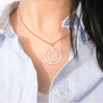 Circle Roman Numeral Necklace -                          	How it looks in reality - Thumbnail - 0