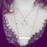 Circle Roman Numeral Necklace -                          	How it looks in reality - Thumbnail - 7