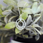 Circle Roman Numeral Necklace -                          	How it looks in reality - Thumbnail - 3