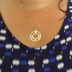 Circle Roman Numeral Necklace -                          	How it looks in reality - Thumbnail - 2