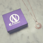 Circle Roman Numeral Necklace -                          	How it looks in reality - Thumbnail - 1