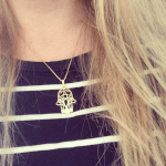 Hamsa Hand Necklace -                          	How it looks in reality - Thumbnail - 1