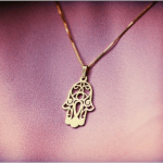 Hamsa Hand Necklace -                          	How it looks in reality - Thumbnail - 3