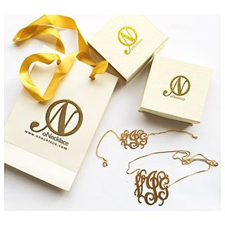 24k Gold Plated Curly Monogram Bracelet  -                          How it looks in reality - Thumbnail - 2