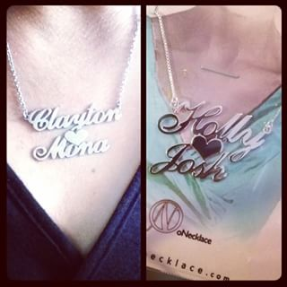 Two Alegro Name Necklaces with Heart -                          	How it looks in reality - Thumbnail - 3