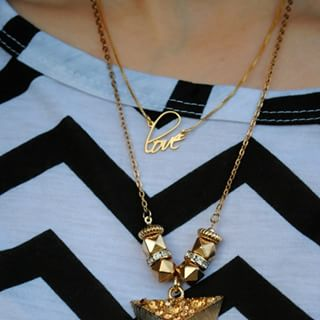 24K Gold Plated Script Name Necklace -                          	How it looks in reality - Thumbnail - 0