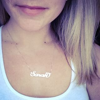 Carrie Name Necklace -                          	How it looks in reality - Thumbnail - 8