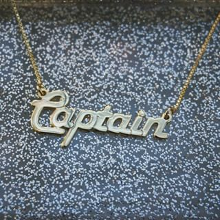 24K Gold Plated Italic Name Necklace -                          	How it looks in reality - Thumbnail - 1
