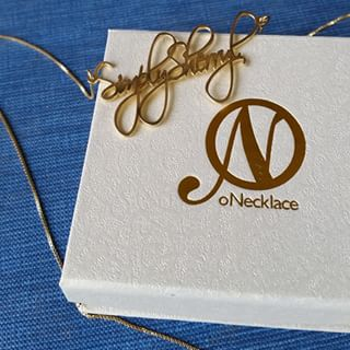 24K Gold Plated Script Name Necklace -                          	How it looks in reality - Thumbnail - 4