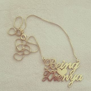 Two Alegro Name Necklaces with Heart -                          	How it looks in reality - Thumbnail - 1