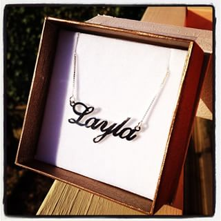 Silver Classic Name Necklace -                          	How it looks in reality - Thumbnail - 3