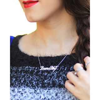 Carrie Name Necklace -                          	How it looks in reality - Thumbnail - 2