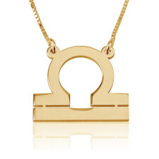 Libra Necklace in Gold Plating