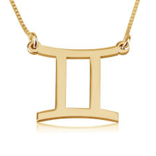 Gemini Necklace in Gold Plating