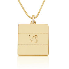 Engraved Zodiac Sign Necklace in Gold Plating