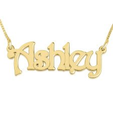 24K Gold Plated Harrie Style Name Necklace