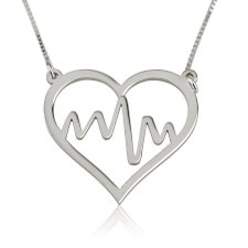 Heart Beat Inside Heart Necklace