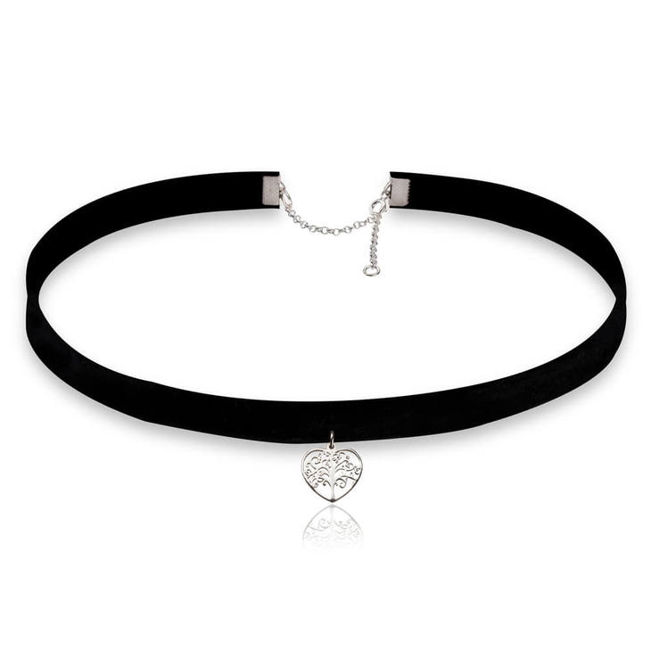 Tree of Life Heart Choker