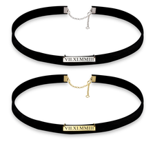 Roman Numeral Choker Necklace