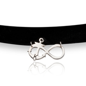 Infinity with Anchor Choker Necklace