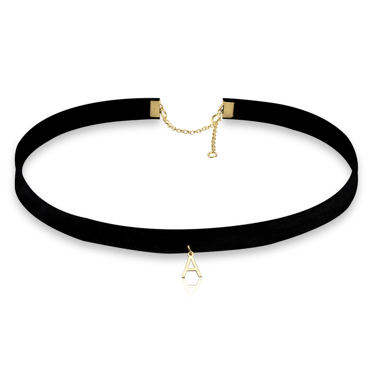Single Initial Choker Necklace