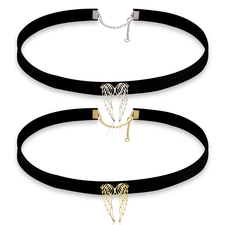 Collier Choker Ailes d'Ange