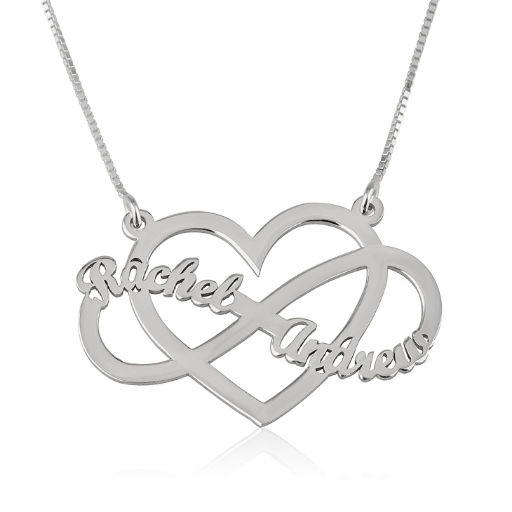 Infinity and Heart Name Necklace