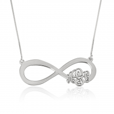 Infinity Monogram Necklace